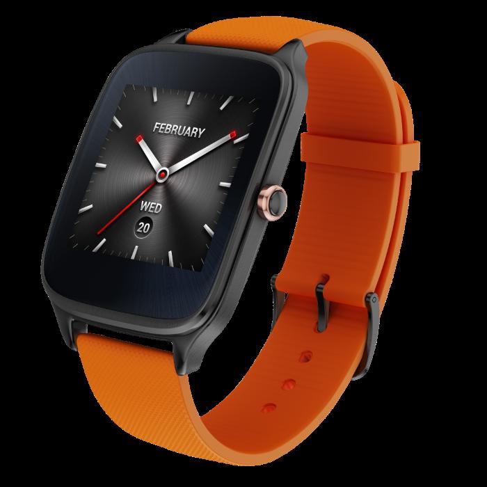 ASUS ZenWatch 2_ _Gunmetal_Orange Rubber (Custom)