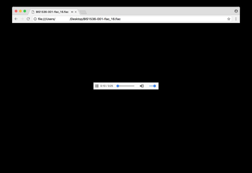 Відтворення FLAC у браузері Chrome 55'