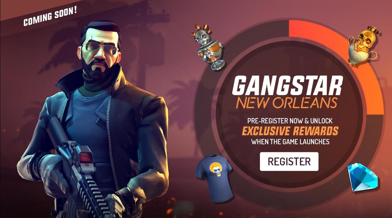 Реєстрація на гру Gangstar New Orleans