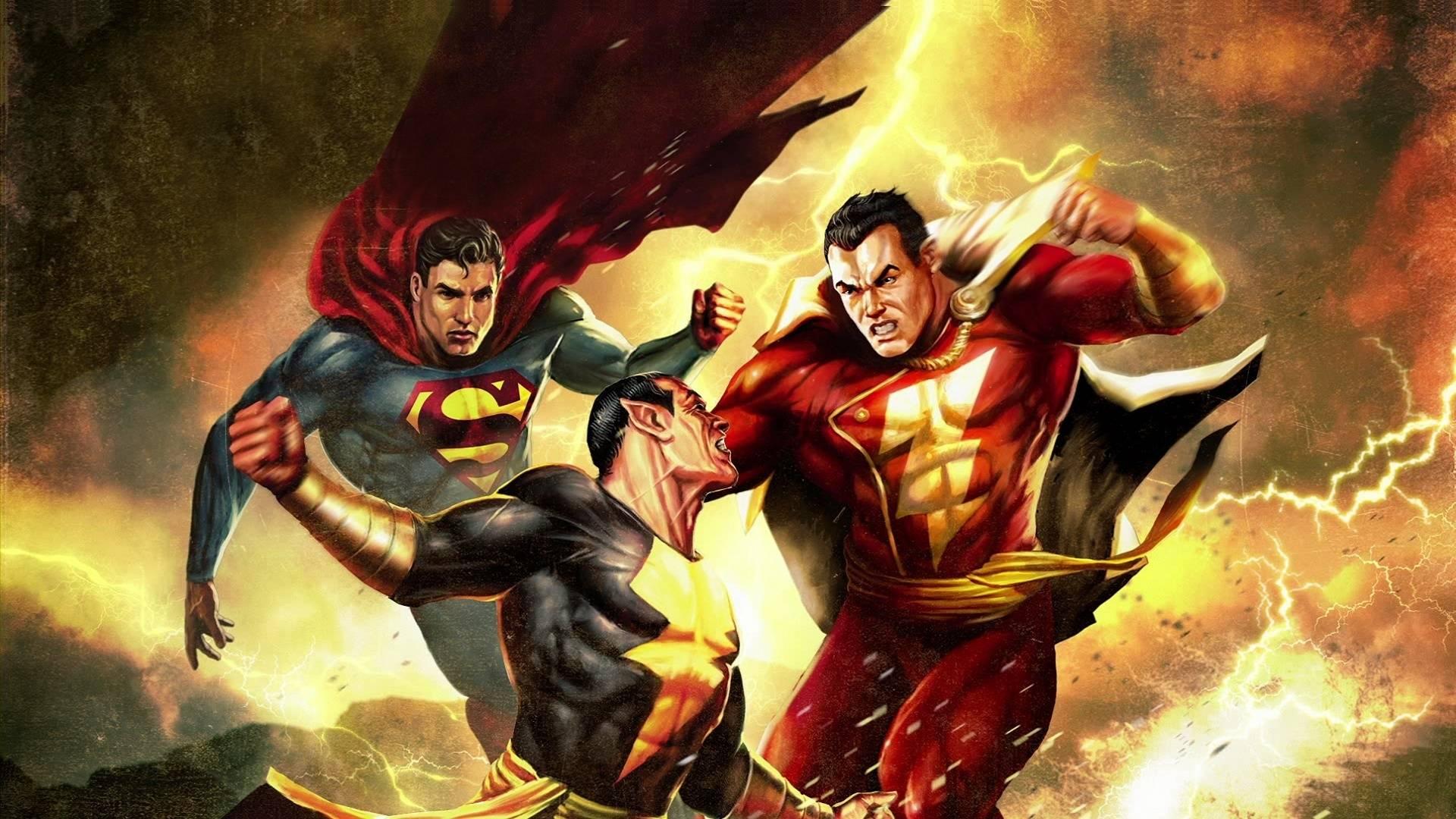 Шазам, Чорний Адам та Супермен