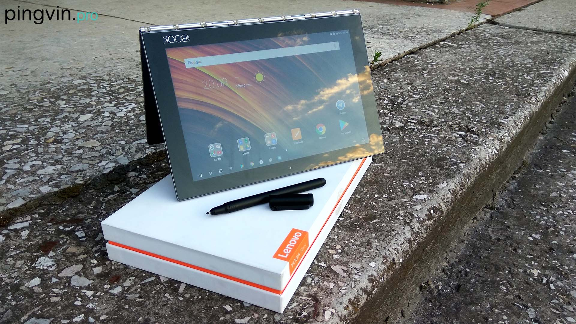 Lenovo Yoga Book - екран