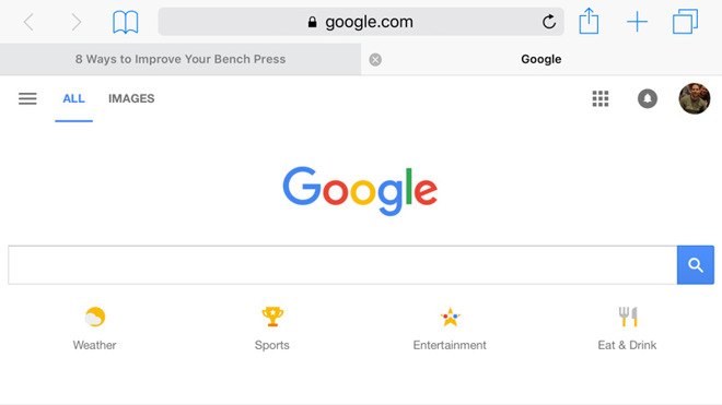 Пошукова система Google на iPhone та iPad