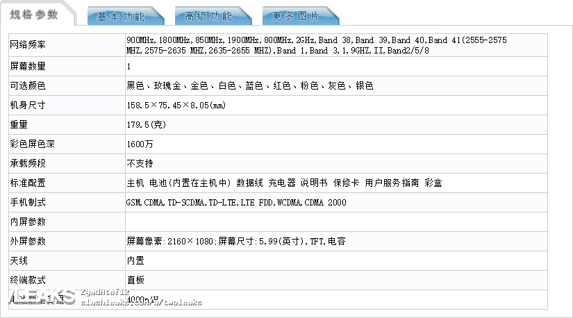 TENAA - Slashleaks - Xiaomi Redmi Note 5