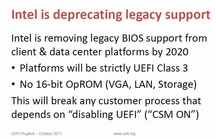 Intel відмовиться від BIOS