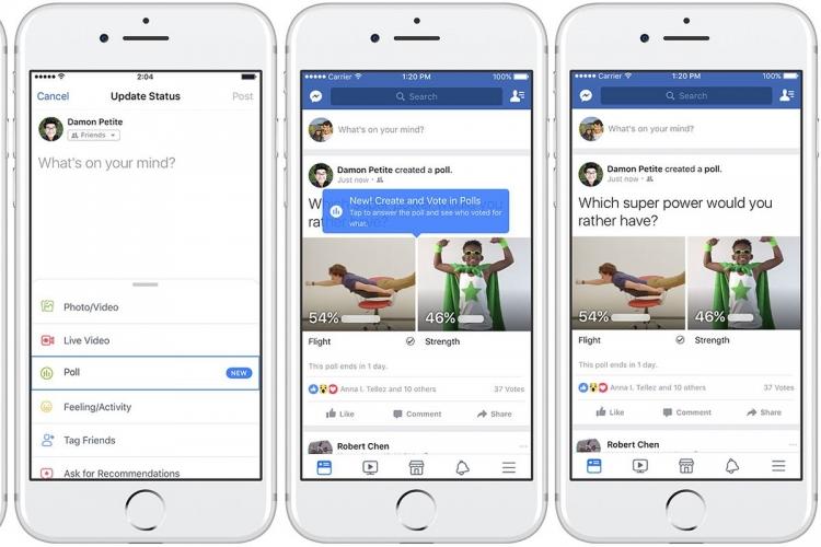 Facebook голосування з GIF-зображеннями