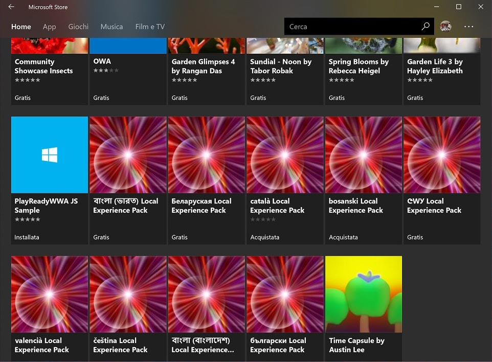 Мовні пакети у Windows Store
