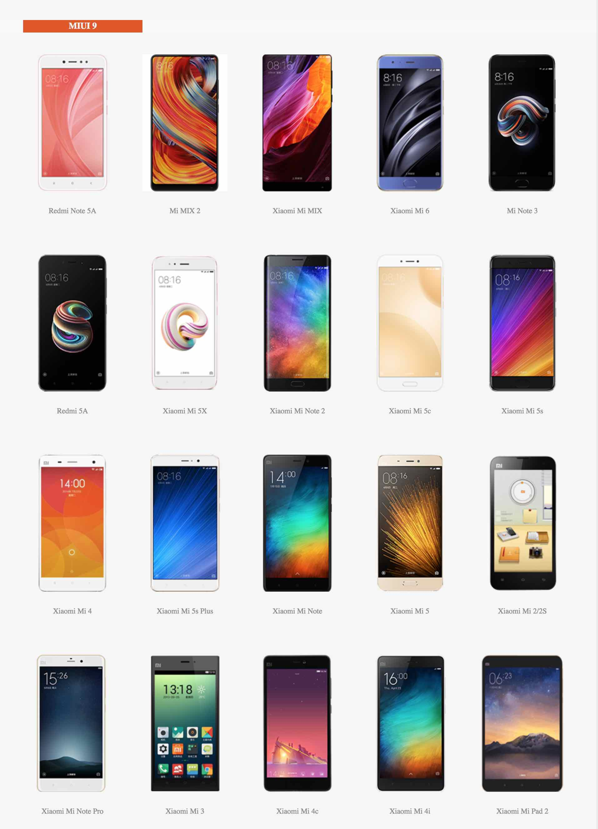 Xiaomi - MIUI 9