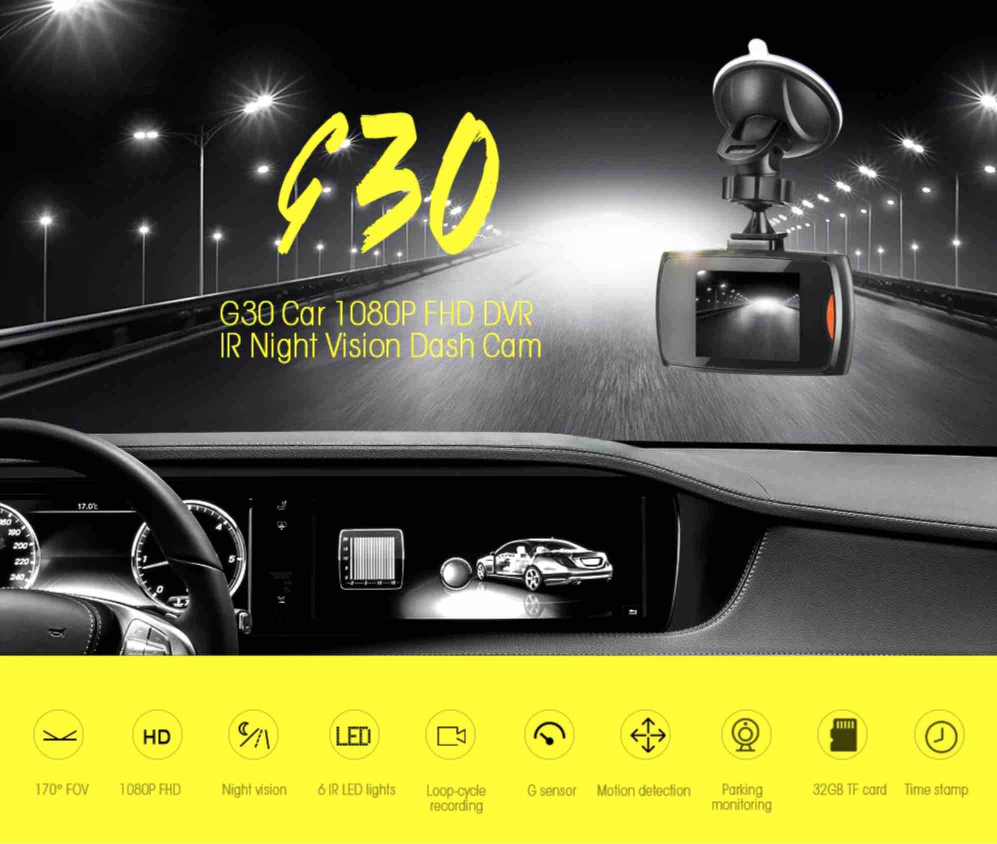 GearBest: G30 Car 1080P FHD DVR