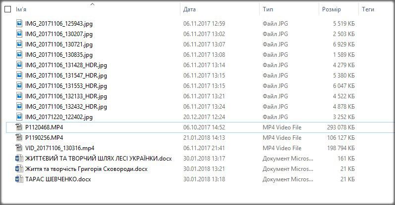 Піддослідні файли для відновлення Raise Data Recovery
