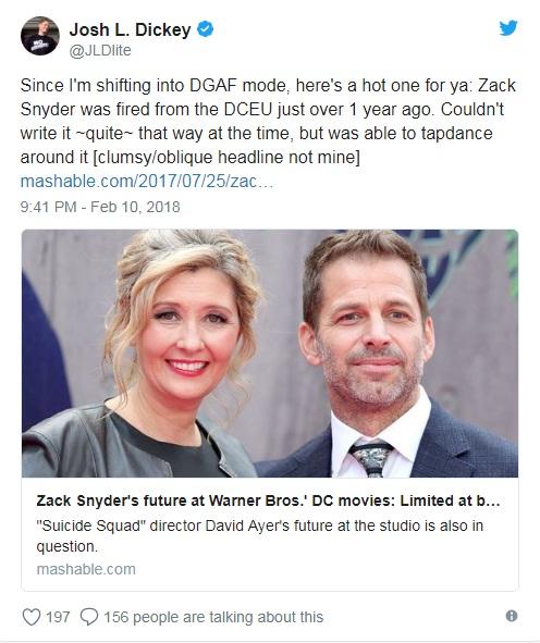 Зак Снайдер був примусово звільненний?
