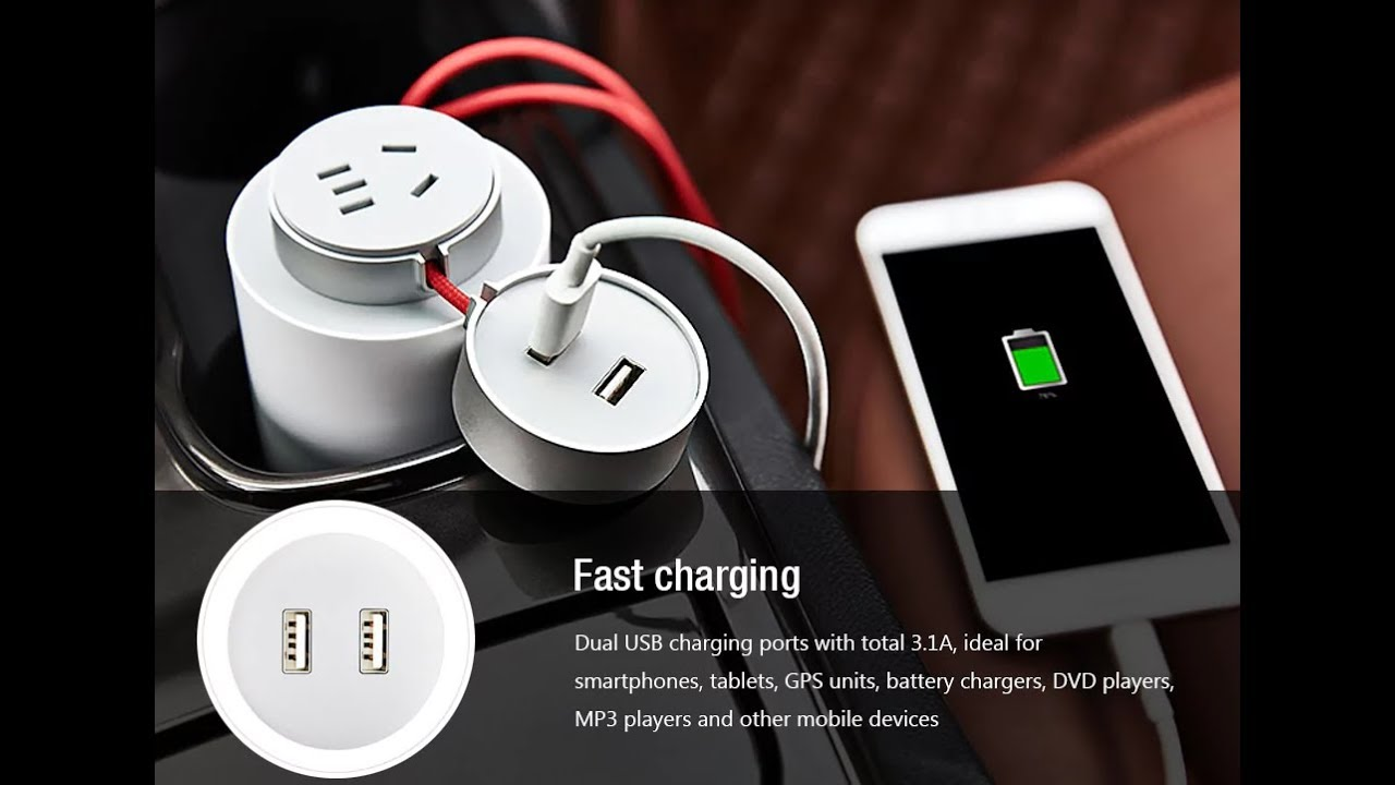 Xiaomi Power Inverter Car Socket Charger