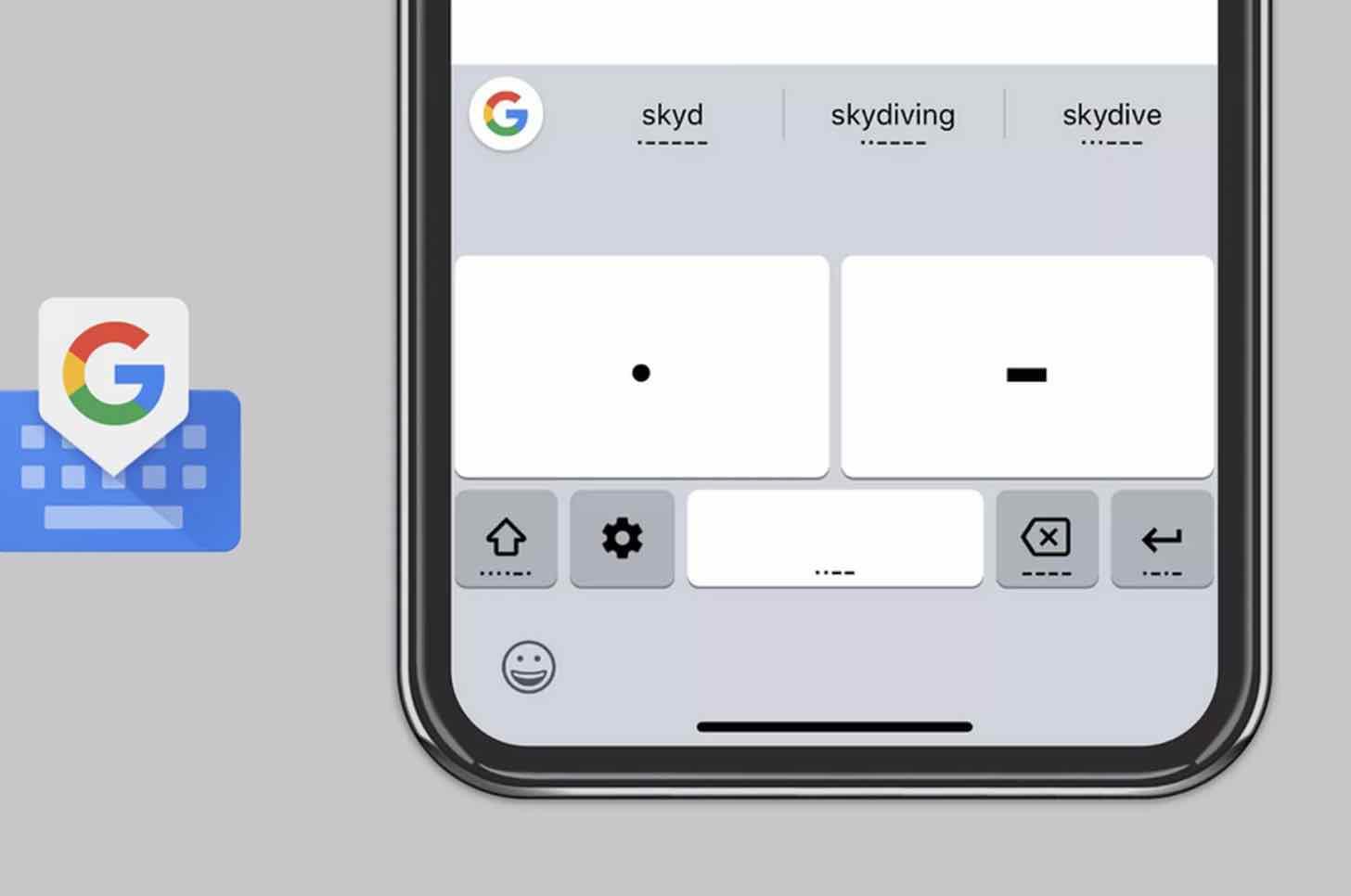 Google азбука Морзе Gboard