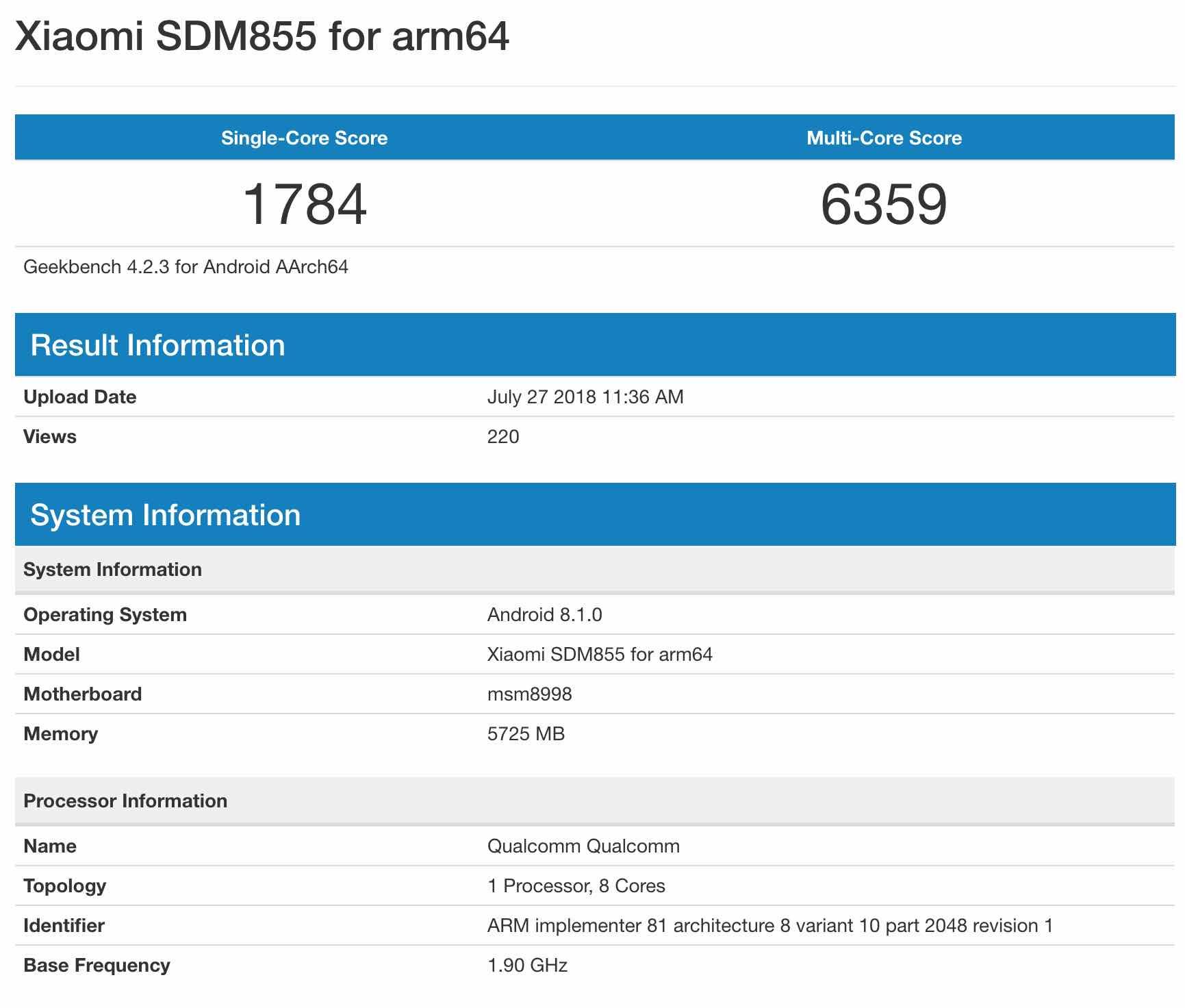 Xiaomi наSnapdragon 855
