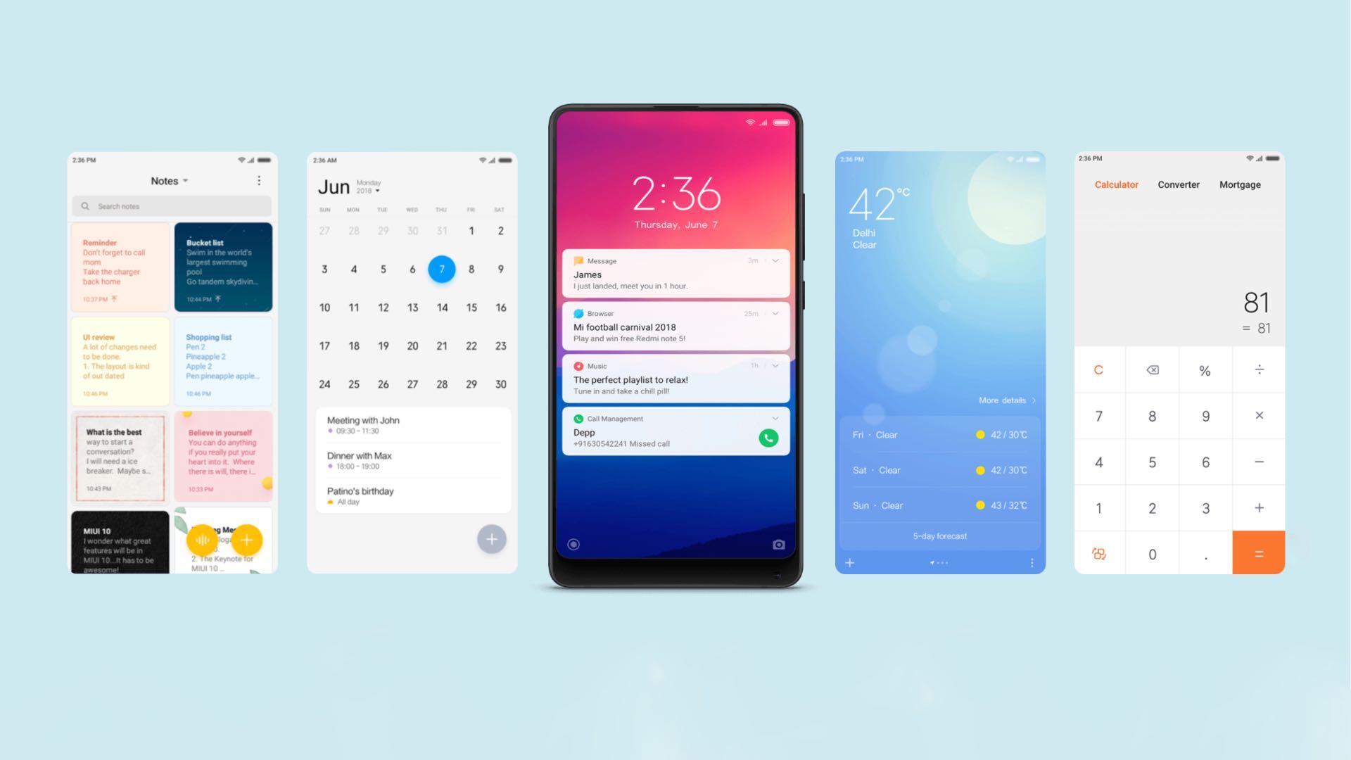 MIUI 10 отримає функції з Android 10 Q та iOS