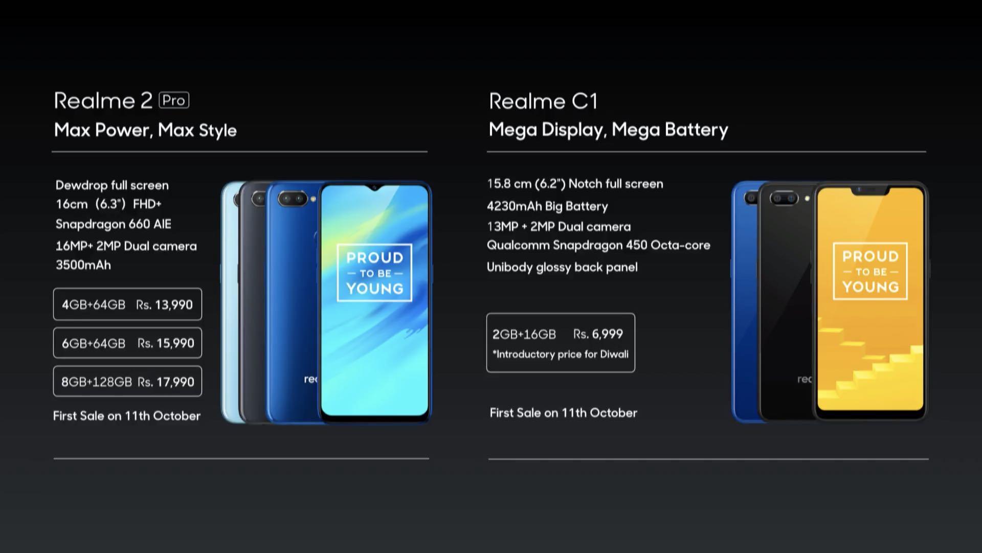 RealMe C1 та RealMe 2 Pro