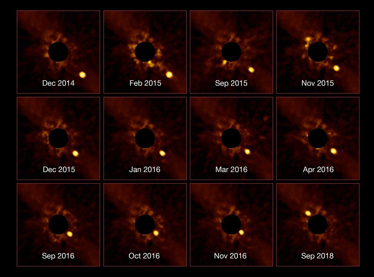 Астрономи вперше зняли обертання планети навколо іншої зірки