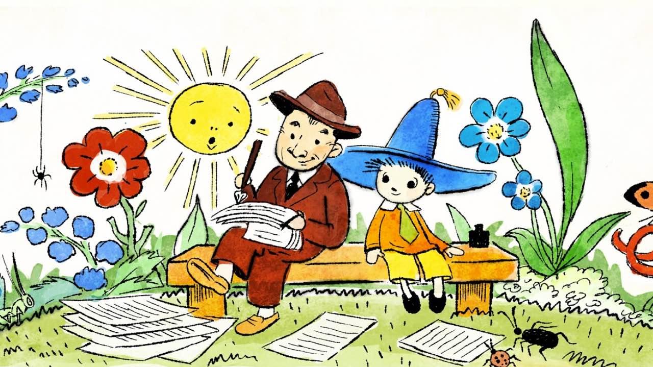 Google cвяткує барвистим дудлом 110-ту річницю автора книжки «Пригоди Незнайка» Миколи Носова
