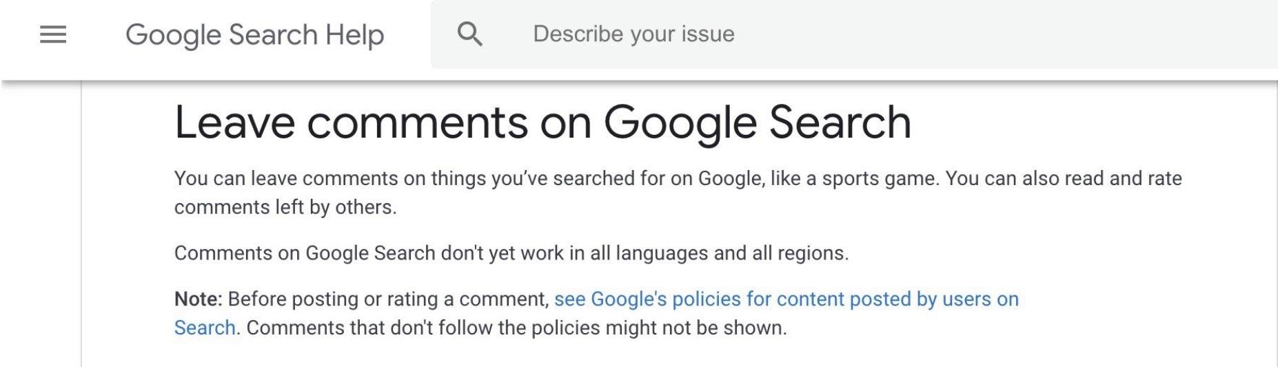 У Google Пошуку з'являться коментарі