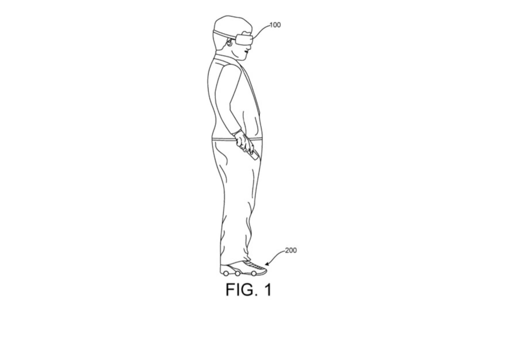 Google запатентував взуття для доповненої та віртуальної реальності