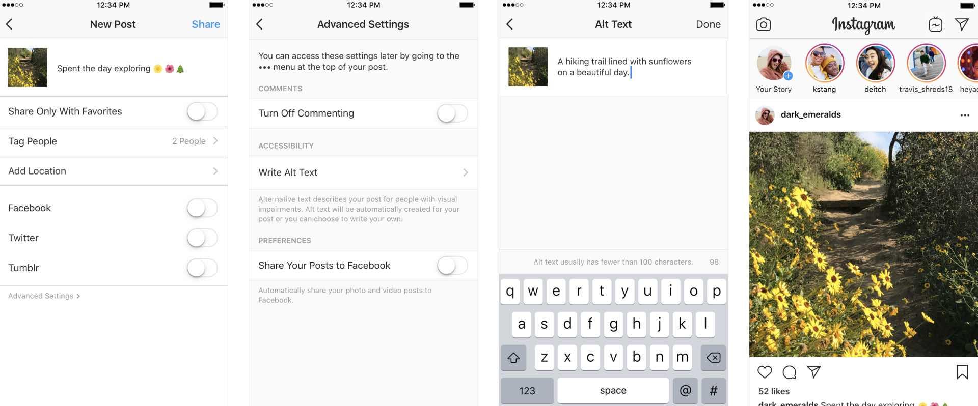Instagram додав функції для людей з порушенням зору