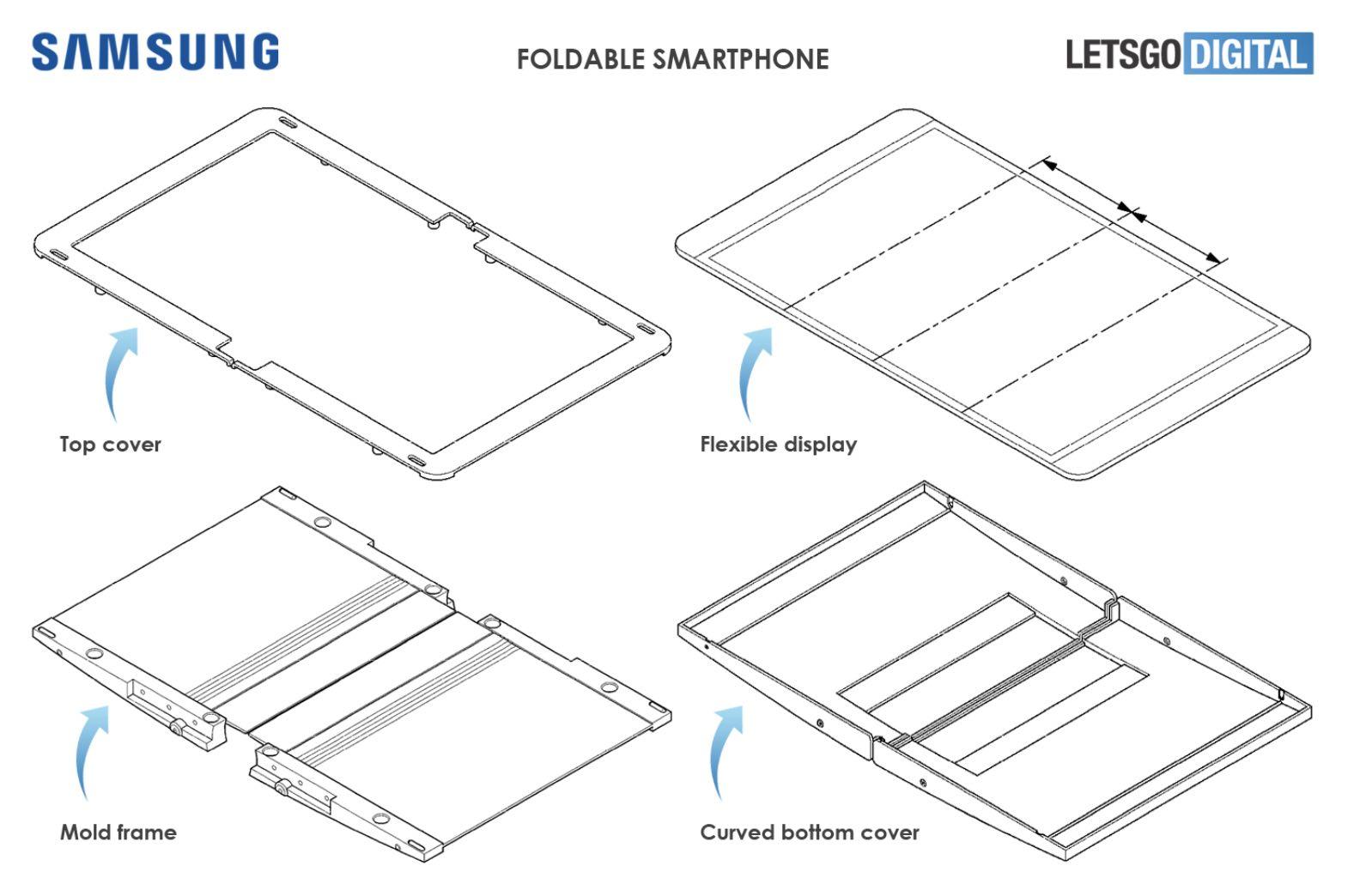 Новий дизайн гнучкого смартфона від Samsung