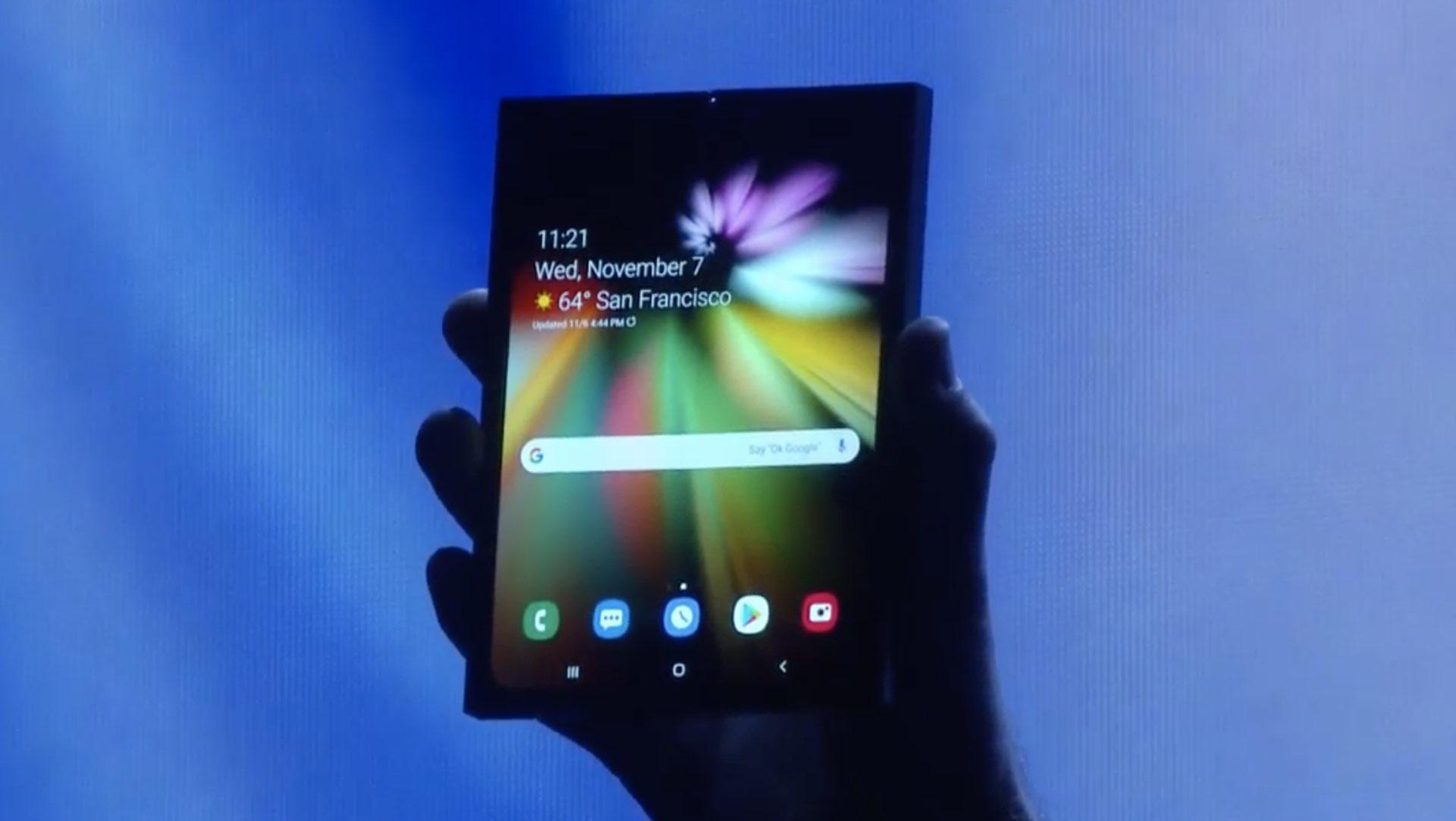 Стала відома ціна смартфона Samsung з гнучким екраном