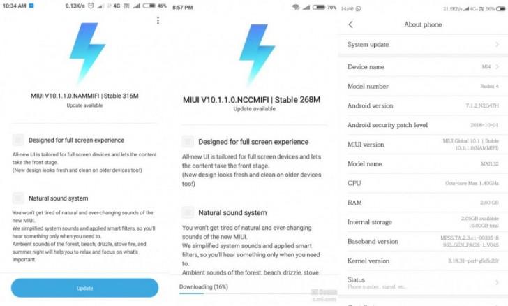 Xiaomi Redmi 4 і Redmi 4A отримали стабільну версію MIUI 10