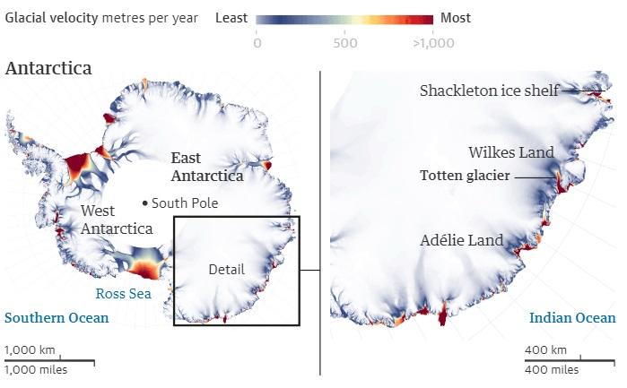 У Східній Антарктиді масово почали танути льодовики