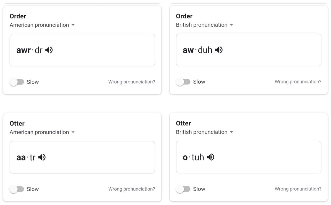 Google вчить вимовляти слова правильно і з акцентом