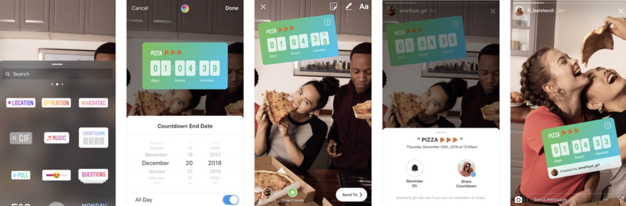 Instagram додав музичні питання, наліпки в прямий ефір і таймер
