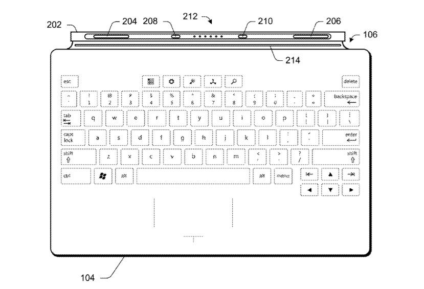 Microsoft запатентувала надтонку клавіатуру для Surface