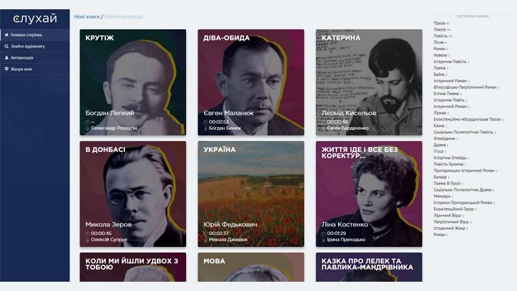 Українці створили онлайн-бібліотеку «Слухай»