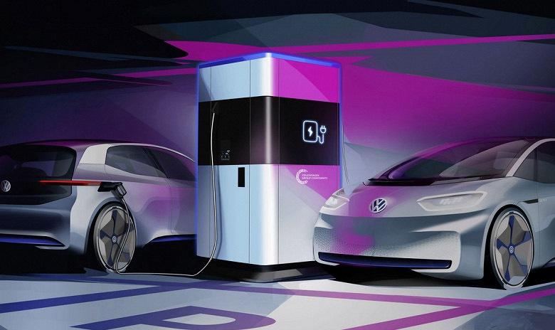 Volkswagen презентував мобільну зарядку для електромобілів