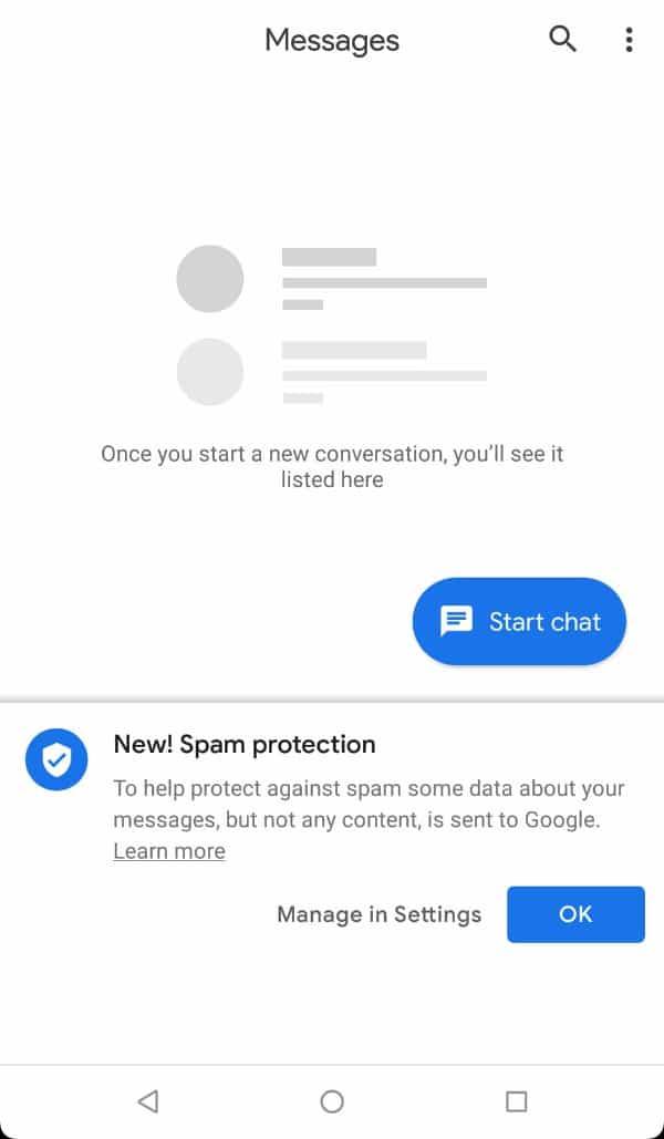 Google захистить Android Messages від SMS-спаму