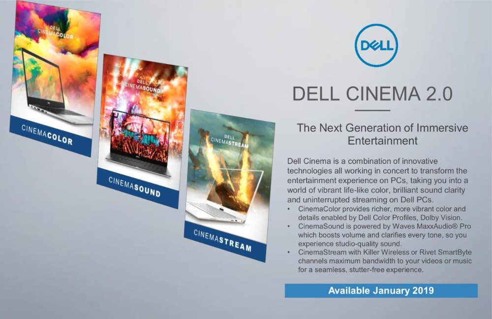 Dell Cinema оновлює CinemaColor, CinemaSound та CinemaStream