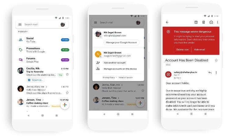 Google оновив дизайн мобільного застосунку Gmail