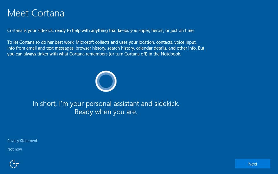 Microsoft прибере Cortana з процесу встановлення Windows 10
