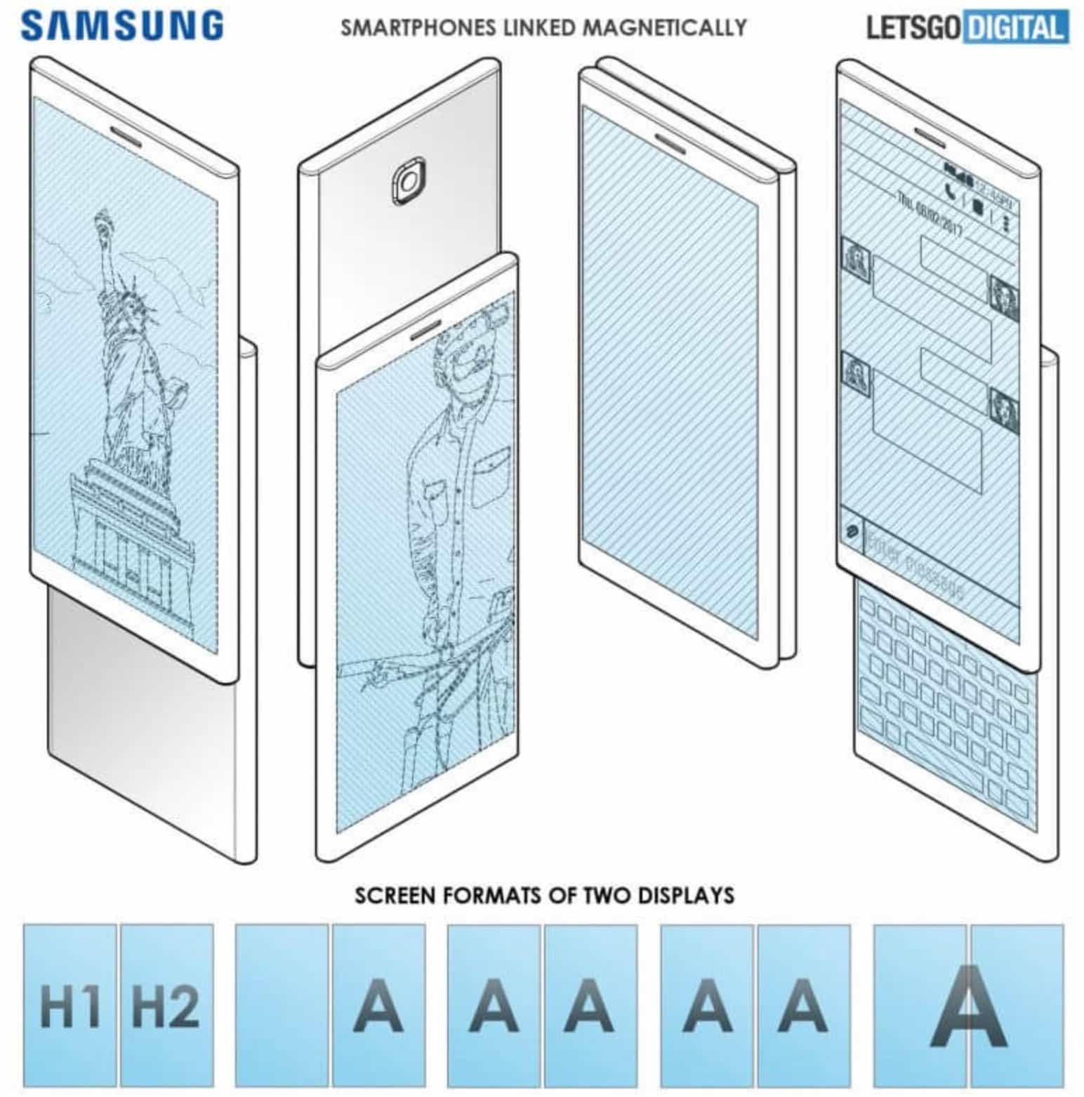 Samsung запатентував смартфони з магнітами, які стають одним цілим