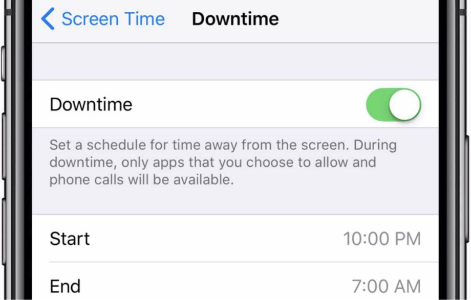 iOS 12.2 Screen Time DownTime