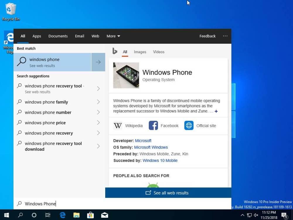 Microsoft планує зміни в панелі завдань Windows 10