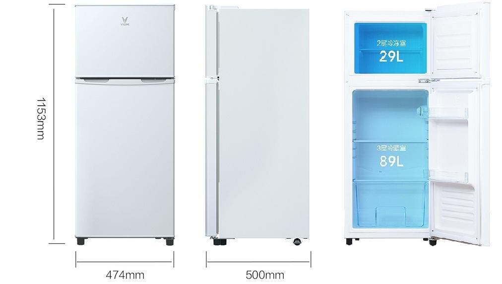 Xiaomi Yunmi 118L Double Door Refrigerator
