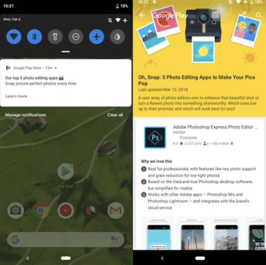 Google Play надсилає сповіщення з добіркою найкращих програм