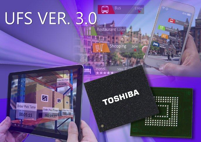 Toshiba представила вбудовані накопичувачі UFS 3.0