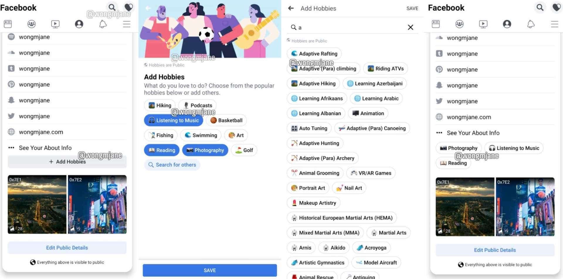 Facebook тестує новий дизайн та вкладку хобі