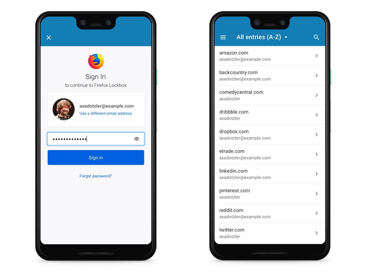 Менеджер паролів Firefox Lockbox став доступним для Android