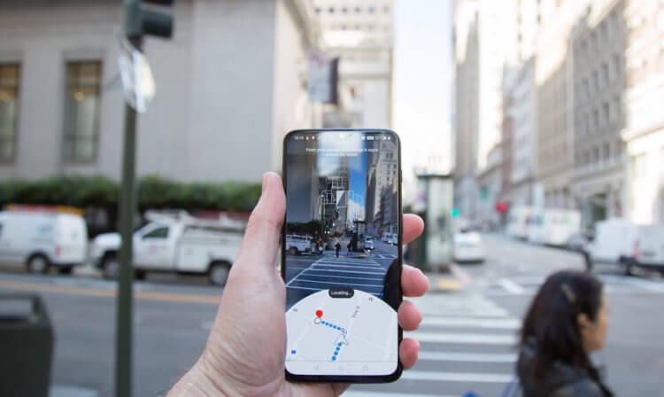 Google Maps доповнена реальність для перегляду вулиць