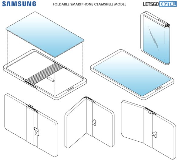 Samsung запатентував конкурента Huawei Mate X