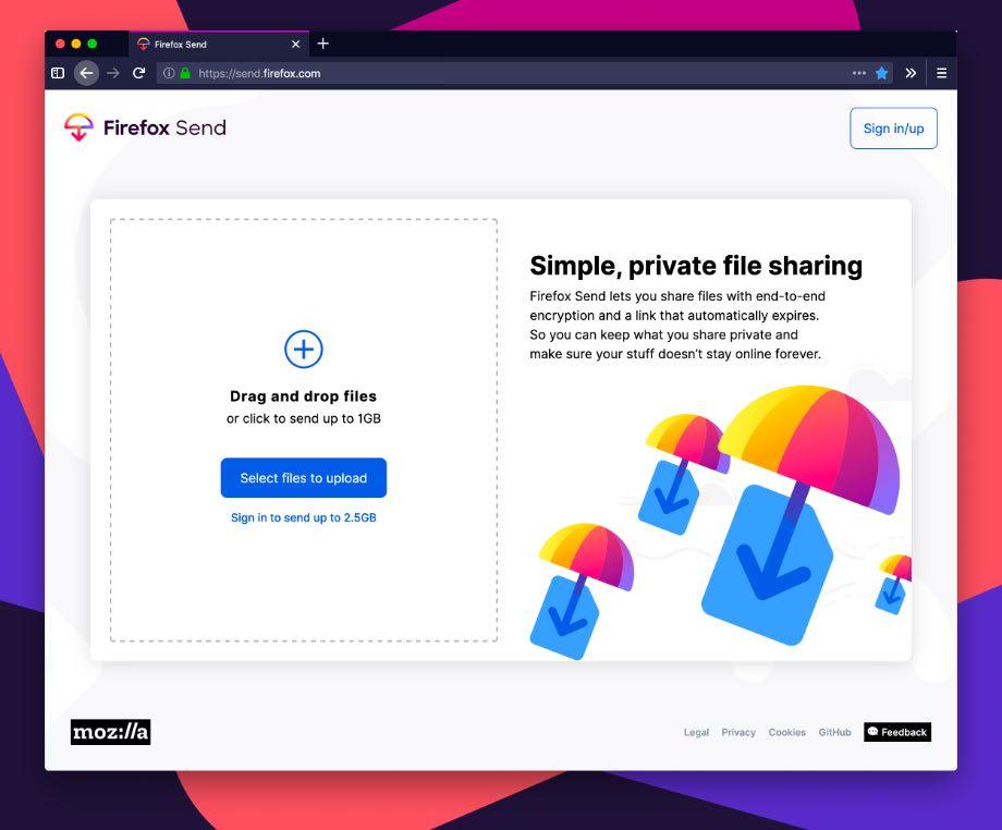 Send: Mozilla представила платформу для обміну файлами
