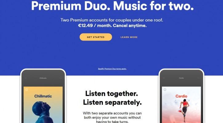 Spotify тестує новий тариф Premium Duo