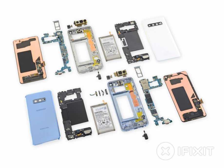 iFixit розібрав Samsung Galaxy S10 та Galaxy S10e